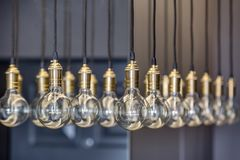 Edison lampor arkivbild