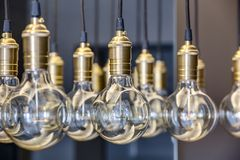 Edison lamps Stock Image