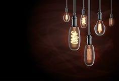 Edison Light Bulb. Vector Illustration Royalty Free Stock Images
