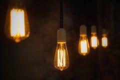 Edison Light Bulbs d'annata Fotografia Stock