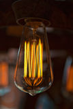 Edison Light. Power heats up the filaments to make them glow and emit light Royalty Free Stock Photo