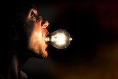 Edison Lightbulb royaltyfria foton