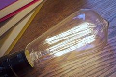 Edison Lightbulb Books Stock Photography
