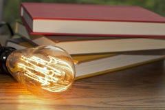 Edison Lightbulb Books Stock Photos