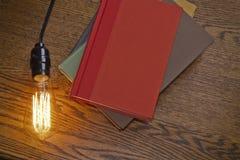 Edison Lightbulb Books Stock Images