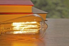 Edison Lightbulb Books Royalty Free Stock Images