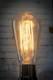 Edison Lightbulb Brick Wall Stock Photos