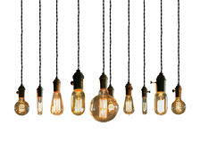 Edison Lightbulbs Arkivfoto