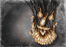 Edison Lightbulbs Beard Imágenes de archivo libres de regalías