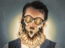 Edison Lightbulbs Beard Stock Photo