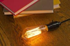 Edison Lightbulbs Books Royalty Free Stock Photos