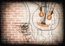 Edison Lightbulbs Face Stock Photo