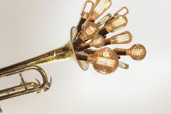 Edison Lightbulbs Trumpet Στοκ εικόνα με δικαίωμα ελεύθερης χρήσης