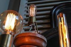 Edison ljusa kulor Fotografering för Bildbyråer