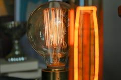 Edison ljusa kulor Arkivbild