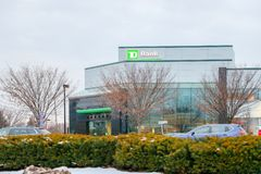 TD Bank exterior sign. a top ten bank in North America. royalty free stock photography