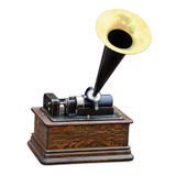 Edison phonograph. Vintage edison phonograph isolated on white Stock Photography