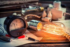 In the Edison's laboratory Royalty Free Stock Photography