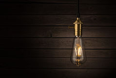 Edison style lightbulb Stock Images