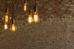 Edison Style Lightbulbs Royalty Free Stock Photography
