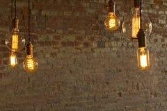Edison Style Lightbulbs Stock Photography