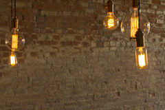 Edison Style Lightbulbs Royalty Free Stock Photography