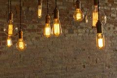 Edison Style Lightbulbs Stock Images
