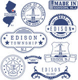 Edison township, NJ, generic stamps and signs Royalty Free Stock Photos
