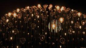 Edison tunsteen les ampoules de vintage dans l'obscurité
