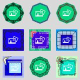 Edit document sign icon. content button. Set Royalty Free Stock Image