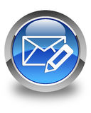 Edit email icon glossy blue round button Royalty Free Stock Photos