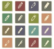 Edit icon set. Edit  icons for user interface design Royalty Free Stock Images