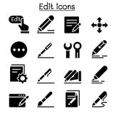 Edit icon set. Vector illustration graphic design Royalty Free Stock Photo