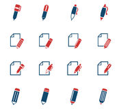 Edit icon set. Edit web icons for user interface design Stock Images