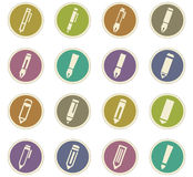 Edit icon set Royalty Free Stock Images