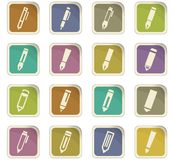 Edit icon set. For web sites and user interface Stock Images