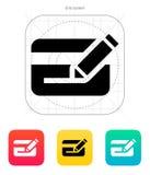 Edit plastic credit card icon. Vector illustration stock illustration