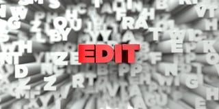EDIT - Röd text på typografibakgrund - 3D framförd fri materielbild för royalty royaltyfri illustrationer