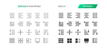Edit text UI Pixel Perfect Well-crafted Vector Thin Line And Solid Icons 30 1x Grid for Web Graphics and Apps. Simple Minimal Pictogram Part 1-4 Royalty Free Stock Image