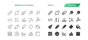 Edit text UI Pixel Perfect Well-crafted Vector Thin Line And Solid Icons 30 1x Grid for Web Graphics and Apps. Simple Minimal Pictogram Part 4-4 Stock Photo