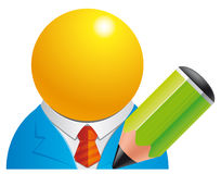 Edit user. Vector illustration of Edit user icon stock illustration