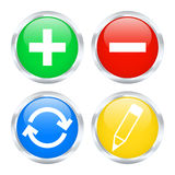 Edit web buttons. Set of edit web buttons. Vector illustration Royalty Free Stock Images