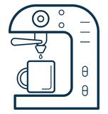 Editabile isolato illustrazione a macchina di vettore di colore del caffè completamente royalty illustrazione gratis
