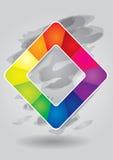 editable τετραγωνικό πρότυπο χρώματος Στοκ Εικόνες