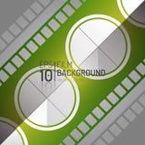 Editable дизайн предпосылки кино Элементы вектора Минимальная иллюстрация фильма EPS10 Стоковые Изображения RF
