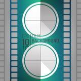 Editable дизайн предпосылки кино Элементы вектора Минимальная иллюстрация фильма EPS10 Стоковое Изображение