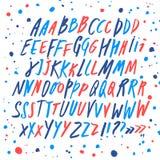 Editable комплект шрифта стиля doodle бесплатная иллюстрация