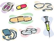 editable полно иконы медицинские Стоковые Фото