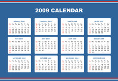 Editable 2009 calendar Stock Photo