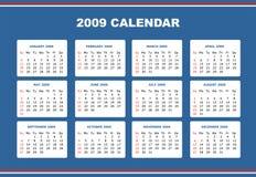 Editable 2009 calendar Stock Photo